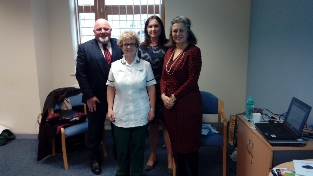 Julia Scott, CEO from the Royal College of Occupational Therapy visits Livewell Southwest