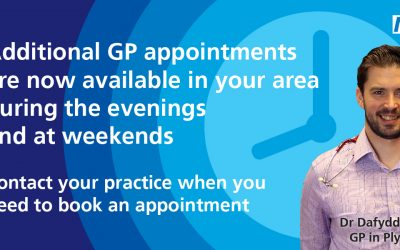Evening and weekend GP appointments now available in Plymouth