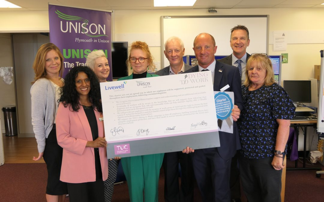 Livewell Southwest signs up to Dying to Work and Helpforce charters