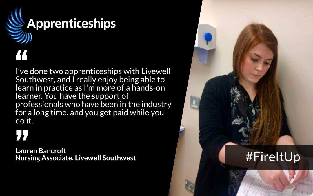 Livewell apprentices star in national campaign highlighting benefits of apprenticeships