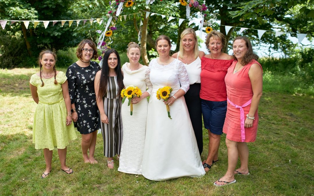 Elizabeth and Jaime's wedding day, with Livewell colleagues from Adult Social Care