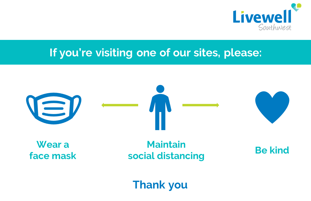 Patients, staff and visitors must continue to wear face coverings in healthcare settings